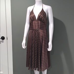 Alynpaige New York WOMANS brown silk dress SZ.9/10